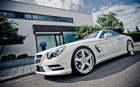 Mercedes, Carro, Branco, carros, maquinaria, Carro