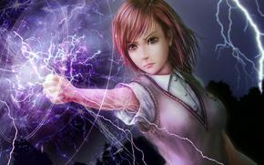 enchantress, spell, Lightning, view