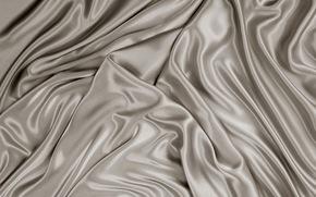 Seta, rasatello, grigio, struttura, tessuto