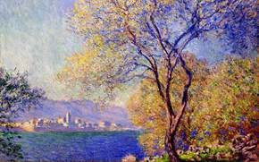 Claude Monet, paesaggio, albero, immagine, impressionismo