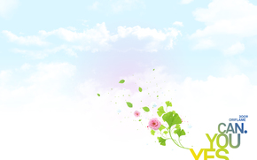 yes you can, yes you can, logo, oriflame, flower, sky