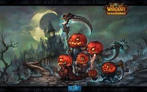 Halloween, Zucca, Elfi, Swords, arma, Arte