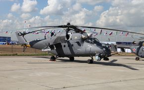 Ми-35, вертолет, площядка, авиашоу