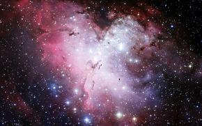 туманность, Орел, Хаббл, телескоп, звезды, космос