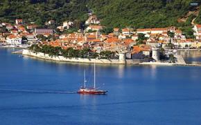 Croazia, Korcula, mare, Jadran, riposo