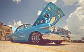 импала, небо, шевроле, облака, стиль, Chevrolet