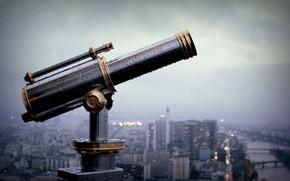 Париж, Франция, подзорная труба, бинокль, смотровая, город