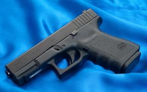 Glock, pistola, arma, carta da parati, Austria, tela, Blu