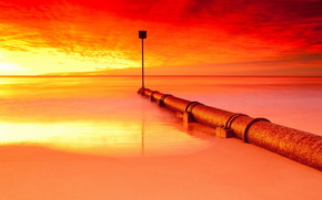 sea, night, pipe, color, sign, style