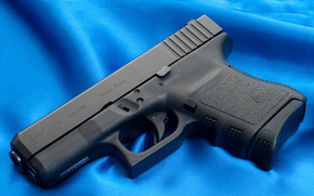 Glock, pistola, arma, carta da parati, tronco, Austria, tela, Blu, sfondo