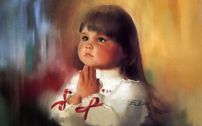 picture, picture, girl, prayer, Donald Ash, face, child, hands