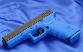 Glock, pistola, blu, carta da parati, arma, Austria, tela, sfondo