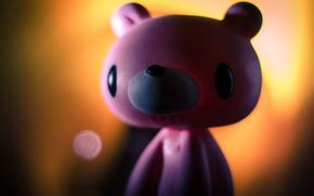 медведь, гламур, розовый