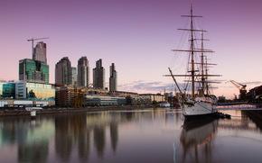 city, wharf, ship