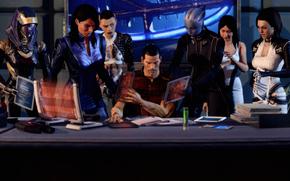 Arte, Shepard y compaa, trabajar, collage, mesa, Ashley, Lear, Abordar, Gato, Miranda, Diana