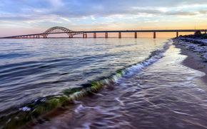 rio, ponte, paisagem