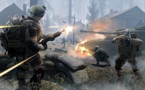 tanque, Soldados, Arma, mangas, batalla, asalto, escaramuza