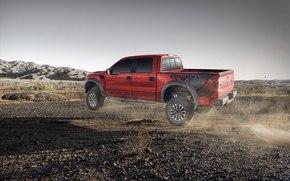 pick-up, camion, camionetta, guado, deserto, Guado