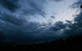rain, Cloudy, clouds, sky