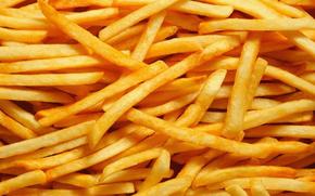 картофель, жареный, фри, еда