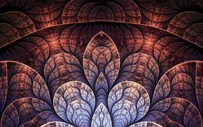 fractal, Arte, los patrones de, lnea, Ptalos