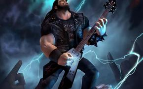 Eddie, guitar, Lightning, rock