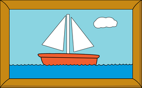frame, picture, ship