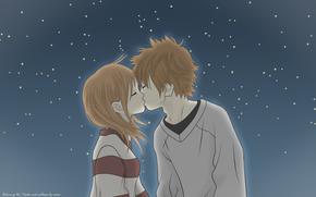 аниме, Это были мы, поцелуй, ночь