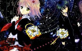anime, Amu Hinamori, Ikuto, Stella, castello, chiave, ragazza, tipo