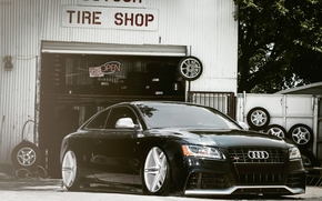 Авто, Машины, Тюнинг, Посадка, Шины, Сервис, Забор, Audi