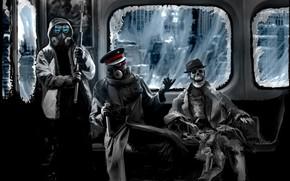 романтика апокалипсиса, арт, капитан, снайпер, метро, скелет, шляпа, винтовка, противогаз, комикс, паутина