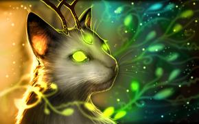 арт, романтика апокалипсиса, существо, кот, мутант