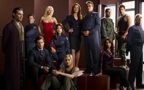 srie, Battlestar Galactica, equipe de galxia, civil