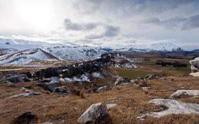 Feld, Gebirge, Natur, Landschaft