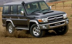 Toyota, Prter, Croiseur, DzhiElIks, voiture, machine, brouette, papier peint, Japon, dsert, sable, Toyota