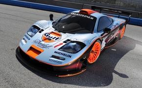 McClaren, Supercar, da corsa, bolide, anteriore, sfondo, supercar