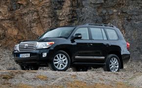 Toyota, Land, Cruiser, Land Cruiser, wheelbarrow, jeep, SUV, Car, Japan, England, English version, Black, toyota