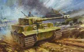 тяжелый танк, sdkfz 181, pzkpfw vi tiger, тигр, арт