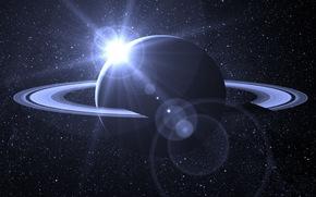 spazio, stella, luce