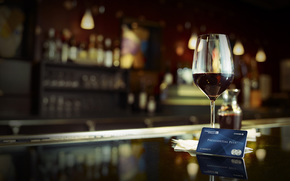 bar, stand, wine, goblet, red, cutaway, credit card, map