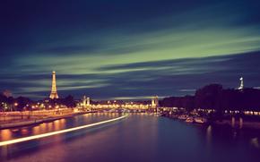 cidade, Paris, Frana, rio