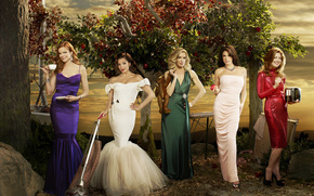 series, Desperate Housewives, all the main actress, in Dresses