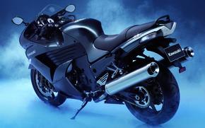 motocicletta, mostra, fumare, motocicli