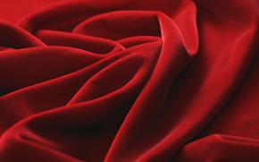 ткань, красное полотно, складки