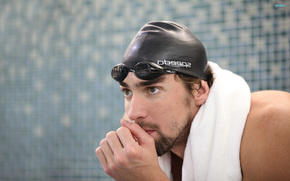 Майкл Фелпс, спорт, плавание, чемпион, взгляд