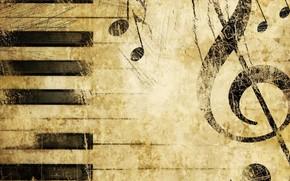 musica, chiave di violino, musica, Tasti