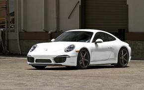Porsche, Carrera, white, building, Blinds, porsche