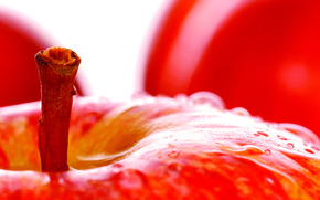 frutta, mela, Macro, gocce