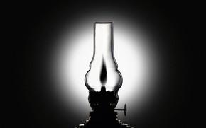 lampa, piecyk naftowy, czarno-biay