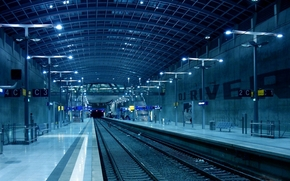 metro, lobby, interior, railroad, light, ladder